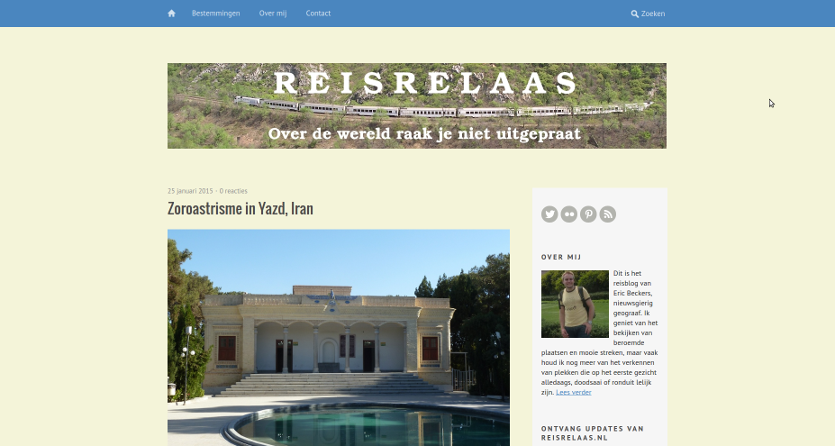 reisrelaas.nl oude lay-out