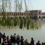 Isfahan, water in de rivier!